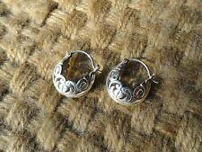MINT! ~ SILPADA .925 Sterling Silver FILIGREE OPEN HOOP HUGGIE EARRINGS.  P1126