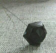 Antique Victorian  Black Glass Hatpin #63-R