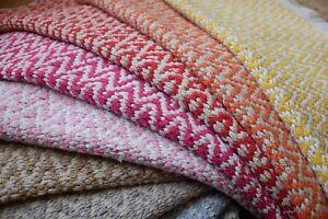 New 150x90 INDIAN KILIM KELIM COTTON Jute Geometric HAND WOVEN Carpet Rug Runner
