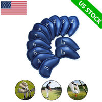 Golf Club Iron Headcovers 12 Pcs Head Covers PU Leather Fit Callaway Mizuno Ping