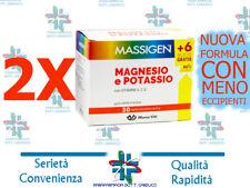 2 confezioni Massigen magnesio e potassio €14,90!! PROMOZIONE +12 BUSTE OMAGGIO!