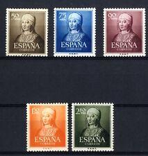 Sellos de España 1951 V Centenario Isabel la Católica 1092-1096 sellos nuevos