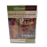Layered and Textured Backgrounds Art Journaling with Paula Phillips DVD New