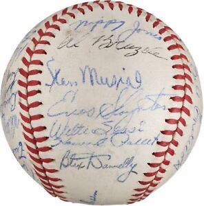 Beautiful 1946 St. Louis Cardinals World Series Champs Team Signed Baseball PSA