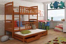 Etagenbett Kinderbett Hochbett MIKI III Stockbett mit Matratzen 90x200 ökologish