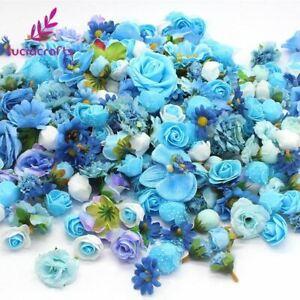 crafts Random Mixed Size Artificial Flower Head Wedding Party DIY Decorati