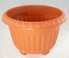 "Japanese Plastic Bonsai Training Pot / Garden Planter 10.5""x 10.5""x 7"" - Orange"