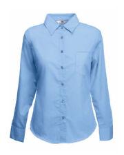 Camisas y tops de mujer talla M color principal azul de poliéster