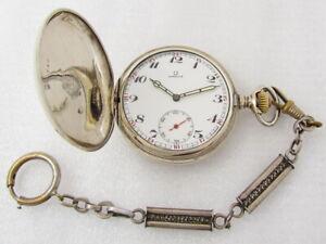 Omega Labrador Antique 1895-1902 Swiss Beautiful Full Hunter Men Pocket Watch