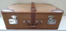vintage suitcase Alter dekorativer Reise Koffer Oldtimer Reisekoffer Ledergürtel