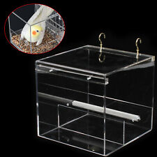 Tidy Acrylic No-Mess Bird Pet Feeder Clean Corral M Cage Food Feeders Parrot Usa
