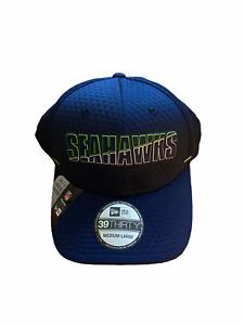 NWT New Seattle Seahawks New Era Graphic Training Camp Hat Cap Size Medium/Large