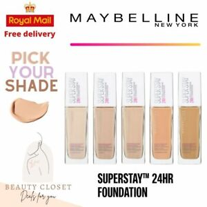 Maybelline SuperStay Foundation Full Various Shades Free UK Shipping BRAND NEW
