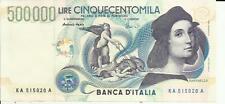ITALY ITALIA 500000-500 000 LIRA  P 118  aUNC. VERY RARE. 3RW 30 NOV