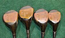 Vintage KROYDON Model 876L Woods Set of 1,2,3,4 Leather Grip