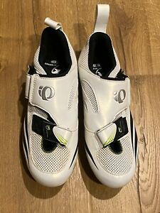 Pearl Izumi Interface Cycling Shoe Womens 41 White Leather Mesh w/SPD Cleats