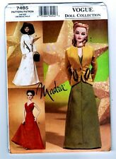 "Vogue 7485 Doll Collection MADRA Ashton Drake "" Circa 1940 "" Pattern New Uncut"