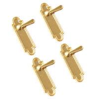 4 Pieces Dollhouse Miniature Alloy Door Locks Handles 1/12 Dolls House Decor