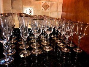 CHRISTIAN DIOR TRIOMPHE PATTERN 28  CRYSTAL VINTAGE RARE WINE GLASSES