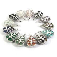 Assorted Natural Gemstone Water Drop Beads Life Tree Multi Functional Pendant
