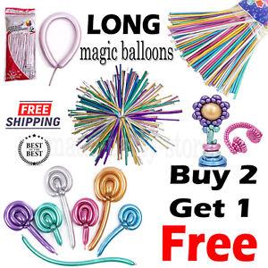 260q Chrome Latex Modelling Balloons Solid Colour Shine Party Magic ShapeTrik UK