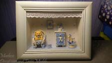 "Framed Baby Room Theme Shadow Box 9"" x 7""  Blue"