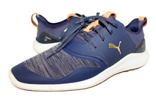 New listing MENS PUMA IGNITE WATERPROOF SPIKELESS NAVY CASUAL GOLF SHOES SIZE 12