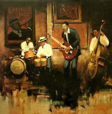 Myles Sullivan: Jazz Rhythms Fertig-Bild 70x70 Wandbild Musiker Musik
