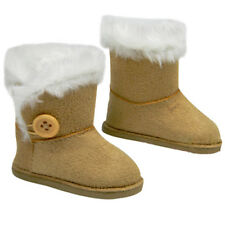 "Winter Boots Cute Tan Fur Lined Boots made for 18"" American Girl Doll Clothes"