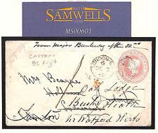 Ms601 1866 Gb Military *Officers Letter* 82 Regiment Forwarded Devon Som Herts