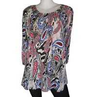 New Ladies Eversun Paisley Tunic Long Top Blouse T Shirt Summer Boho Sizes 10-18