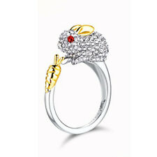 Ring Crystals Opening Ring Bunny Cute Rhinestone  Rings For Women Rabbit