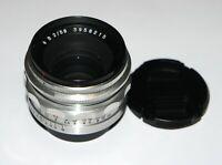 Carl Zeiss Jena Biotar 2/58 Rare Praktina mount Very Good Condition