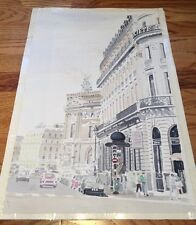 Walter Struck Water Color Painting French City