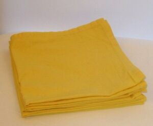 """Bright Sunny Yellow Set of Five 16"""" Square Quality Made Table Napkins"""