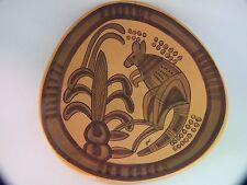 Studio Anna Australian Pottery Wall Plate- Dish  with Kangaroo Retro 50'Vintage