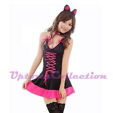 Ladies Playboy Bunny Girl Fancy Dress Halloween Hens Party Costume & Ears