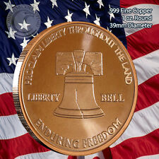 """Liberty Bell"" 1 oz .999 Copper Round Part of the Enduring Freedom Series"