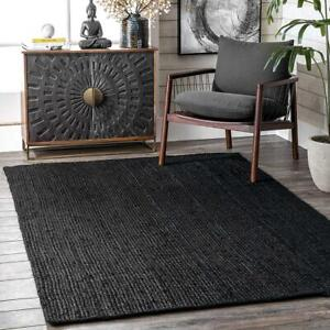 Jute Rug Runner Braided Style Rug Reversible Rustic Look Handmade Natural Rugs