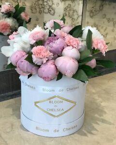 Round Florist Flower Hat Box Storage Gift Satin Ribbon, Wedding. Mother's Day