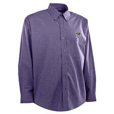 "NWT Men's Baltimore Ravens ""Esteem"" Dress Shirt Box Pattern Yarn Dye Stripe Sm"