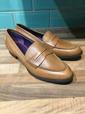 Daniel Hechter Woman's Formal Brown Leather Shoes Loafers Size 41 U.K. 8 NEW!