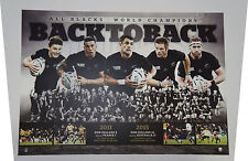 All Blacks 2011 & 2015 World Cup Rugby Union World Champions Print ONLY