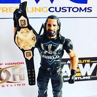 WWE NXT World Championship Faux Leather custom for Mattel/Jakks/Hasbro Figures