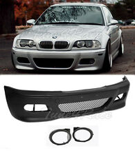 For 99-05 BMW E46 3-Series 4Dr M3 style Front Bumper & fog lights cover