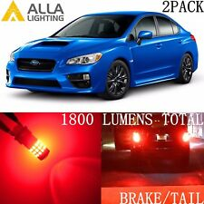 Alla Lighting Brake/Stop Tail Light T20 Red 39-LED Bulb Lamp for Subaru Impreza