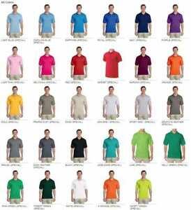Gildan DryBlend Plain Uniform Polo Shirt Short Sleeve 6oz 50/50 Sizes S-2XL G880