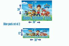 Paw Patrol Birthday Banner Personalized (set of 2) Pink or Blue X2
