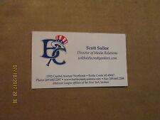 Midwest League Battle Creek Yankees Vintage Defunct Team Logo Business Card