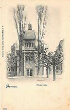 Postcard Switzerland Geneve The Synagogue . . Judaica